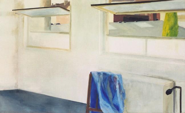 Küchenblick (übermaltes Porträt)