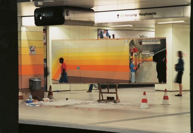 Dokumentation, Temporäres Atelier U-Bahnstation Hauptwache