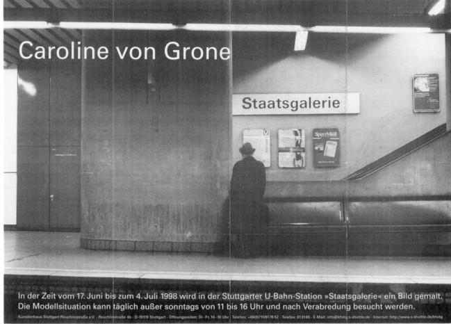 """Plakateinladung zur Aktion """"Staatsgalerie"""""""