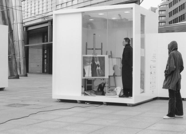 "Temporäres Atelier ""Ichs am Potsdamer Platz"""