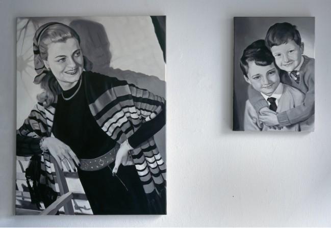 Grisaille 1 - 50er Jahre (Frau mit Kindern)