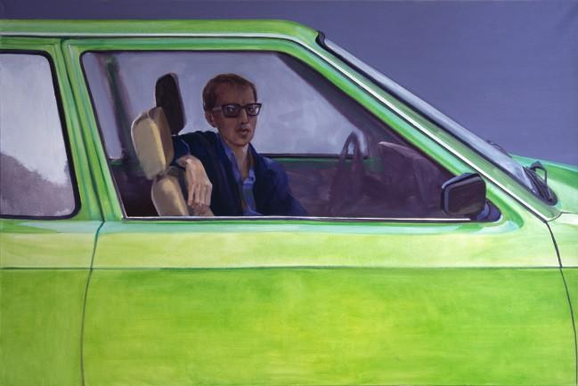 Stefan im grünen Auto