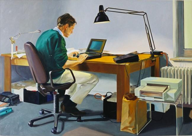 Dirk am Schreibtisch