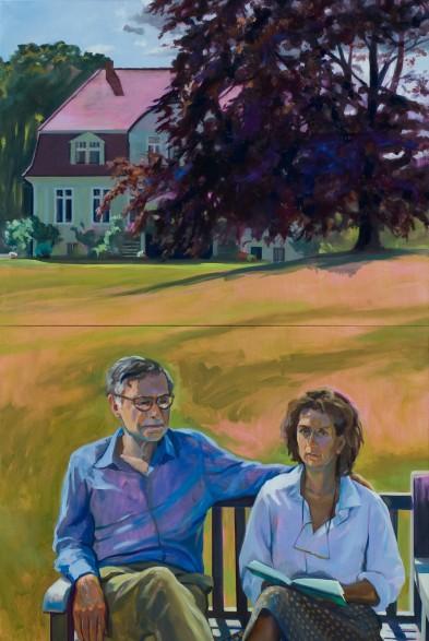 auf der Gartenbank im Juli (B. und I. Graf Hardenberg)